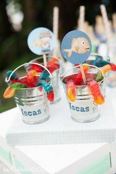 Cute favors at a Gone Fishing Party via Kara's Party Ideas | Kara'sPartyIdeas.com