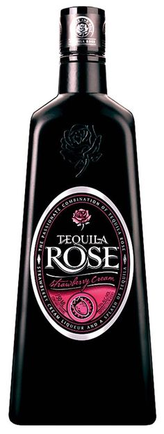Tequila Rose Strawberry Cream Liqueur is the original and imported strawberry flavored cream liqueur and tequila. Tequila Bottles, Liquor Bottles, Vodka Bottle, Tequila Rose, Strawberry Milk, Strawberries And Cream, Cocktails, Alcoholic Drinks, Ale