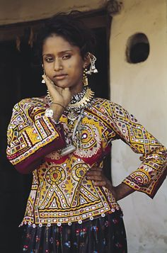 Shisha Work: Tribal embroidery from the Gujrat/Rajasthan region of Kutch