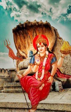 Invoking Powerful Goddess, the Primordial Force Adi Shakti For Ultimate Blessings Shiva Parvati Images, Shiva Shakti, Navratri Puja, Durga Ji, Cobra Tattoo, Ambe Maa, Navratri Images, Mata Rani, Navratri Festival