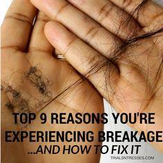Top 9 Reasons You're Experiencing Hair Breakage