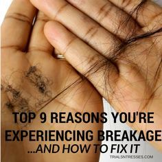 Here are the top 9 reasons you're experiencing hair breakage and how to fix it! These specifics will help get your natural hair growth back in order!