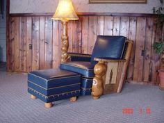 Burl club chair.  By Howkola Furniture. Tim Lozier