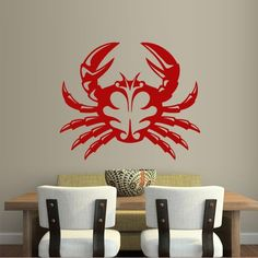 Wall Decal Art Decor Decals Sticker Crab Cancer Sea Ocean Water Sand Cheerful Cartoon Mermaid (M283) DecorWallDecals http://www.amazon.com/dp/B00FWKRB4Q/ref=cm_sw_r_pi_dp_MrmYub0Q2JCJB