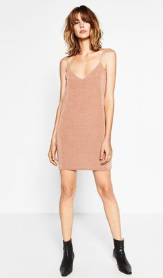 """#slipdress pale pink (model is 5'11"""". I'm 5'5"""") definitely will be longer."""