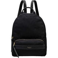 Radley Harley Medium Zip Backpack (415 BRL) ❤ liked on Polyvore featuring bags, backpacks, sac, zip bag, rucksack bags, zipper bag, radley and fake bags