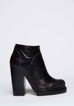 463bc334420 ShopStyle  Celine black suede cutout stacked heel platform booties ...