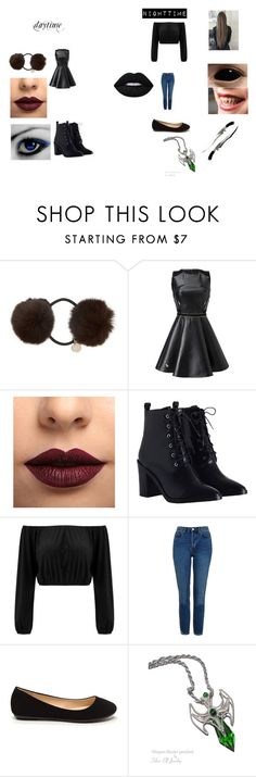 """""""sister location oc:ashley doll"""" by starlla123 ❤ liked on Polyvore featuring Yves Salomon, LASplash, Zimmermann, Topshop and Lime Crime"""