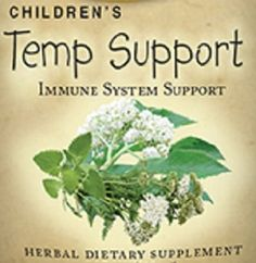 Childrens Temp Support Formula Liquid Herbal Tincture Promotes Natural Cleansing Homeopathic Gentle Remedy