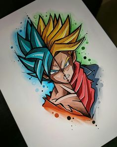 Painting abstract art diy inspiration 37 ideas for 2019 Dragon Ball Gt, Dragon Art, Goku Drawing, Ball Drawing, Disney Drawings, Art Drawings, Super Anime, Anime Tattoos, Anime Art