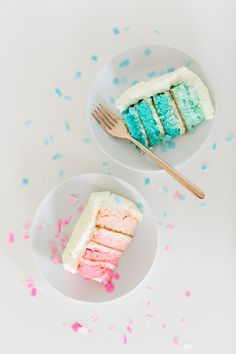 #DIY Gender Reveal Cake #recipe