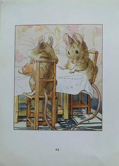 1950's Vintage 'The Tale Of Two Bad Mice' | Etsy Beatrix Potter Illustrations, Beatrice Potter, Peter Rabbit And Friends, Benjamin Bunny, Children's Book Illustration, Woodland Illustration, Book Illustrations, Kid Character, Character Design