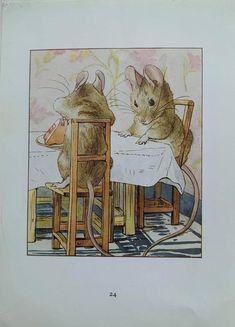 1950's Vintage 'The Tale Of Two Bad Mice' | Etsy Potter, Illustrators, Animal Art, Beatrix Potter Illustrations, Illustration, Drawings, Art, Benjamin Bunny, Vintage