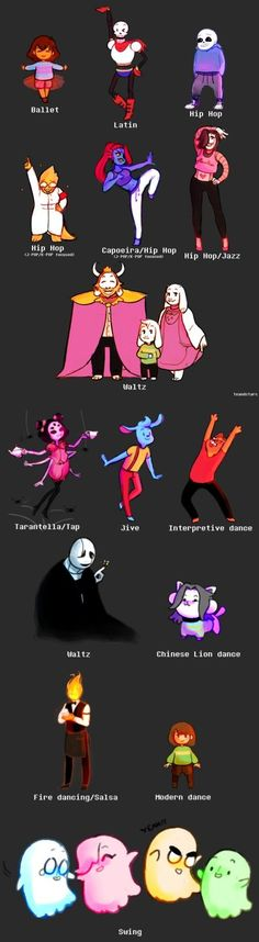 Everyone's official dance. Also Jive is such a fun dance I wanna see Frisk dancing with Nice Cream Guy so much