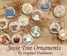 Set of 25 Jesse Tree Ornaments