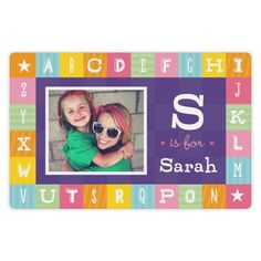 A is for Alphabet Girl Placemat | Home Decor | Shutterfly
