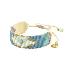 Rainbow Ribbon Cotton Bracelet l Adjustable l 18cm