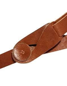 Lowie leather button belt. Beautifully soft fair trade leather.