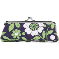 Vera Bradley Kisslock Case in Lucky You ($15) ❤ liked on Polyvore featuring accessories, tech accessories, lucky you, personal accessories and vera bradley