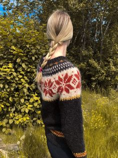 Excited to share this item from my #etsy shop: Stjørnu sweater - handknit own design - #Norwegian #Nordic #sweater #knit #alafosslopi #lopi #icelandic #handknit