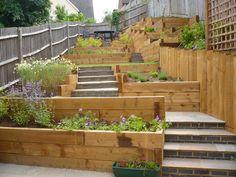 child friendly terraced garden - Google Search
