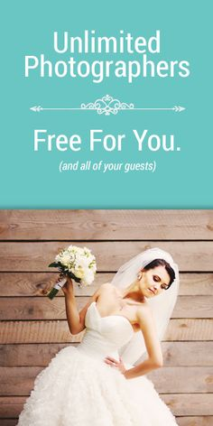 More the merrier, right?  Getting married or know someone who is?  Try  WedPics - The #1 Photo & Video App for Weddings!  Your professional  photographer plus all of your guests' photos...imagine all the candid moments you can relive FOREVER.  It's FREE!