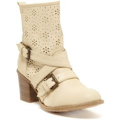 Bucco Kris Laser Cut Boot ($15) ❤ liked on Polyvore