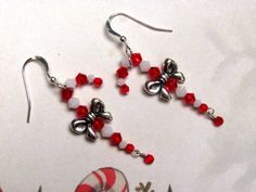 Candy Cane Earrings Christmas Earrings by HappyEverythingElse, $20.00