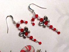 Candy Cane Earrings Christmas Earrings by HappyEverythingElse, $20.00