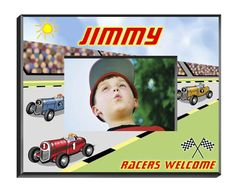 """Personalized  Children's Frames - Racer. Our personalized Children's Frames are perfect for your favorite picture. They make great room decorations and keepsakes. Frames measure 8"""" x 10"""" and hold a 4"""" x 6"""" photo. See individual frame for personalization.This item takes 3-4 business days to process before it ships === Christmas Shipping Cut Off (U.S. Only) === U.S. Std/Ground: Dec. 8th (11:59pm PST) === U.S. 2-Day Express: Dec. 13th (11:59pm PST)"""