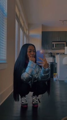 Chill Outfits, Cute Swag Outfits, Pretty Outfits, Casual Outfits, Girl Fashion, Fashion Outfits, Winter Fits, Cute Poses, Black Girl Aesthetic