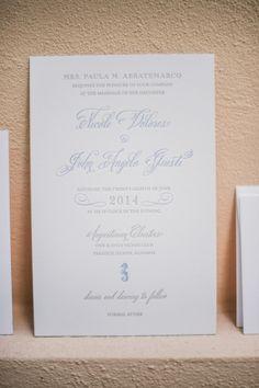 Elegant white and blue wedding invitations: http://www.stylemepretty.com/little-black-book-blog/2014/11/06/elegant-bahamas-wedding/ | Photography: Sam Hurd - http://www.samhurdphotography.com/