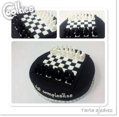 ¿Echamos una partida? Chess cake