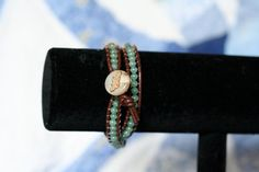 2 wrap leather bracelet by Projectbabyshuford on Etsy