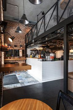 Cafe style. True Burger Bar | Kiev, Ukraine | tiled floor