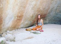 "Preparing for six healing ceremonies I will be sharing @spiritweavers in just a few weeks time! This portrait was taken in the natural stone cave I taught my first shamanic class ""The Gift of Ritual"" at the gathering in Joshua Tree two years ago. I'm remembering this time in my life and feeling love for all that has unfolded since then. Beauty in every direction as my spirit follows a wild path of expansion and soul evolution. It is honestly not always easy and I'm constantly surrendering my…"