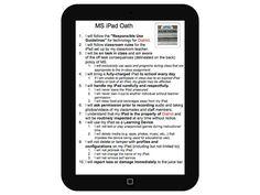 The iPad Oath: 10 Rules For iPad Use In The Classroom