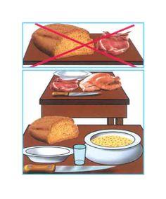 Separar alimentos crudos de cocinados. - Marina Muñoz Cervera - Los alimentos crudos y cocinados deben estar separados durante su transporte, conservación y preparación. Esta es la segunda llave de inocuidad de los alimentos y es tan im...