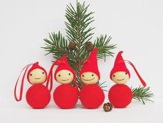 a very large number handmade, classic, and diverse products and their personal gifts related to your desired seek. Christmas Tree Decorations To Make, Scandinavian Christmas Decorations, Christmas Tree Ornaments, Christmas Stockings, Gnome Ornaments, Norway Christmas, Retro Christmas, Christmas Elf, White Christmas
