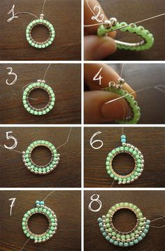 Sunbust component with brick stith ~ Seed Bead Tutorials