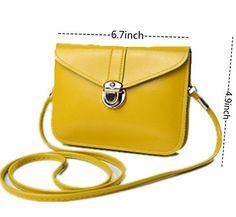 New Trending Shoulder Bags: edfamily Women Mini Handbags Leather Crossbody Single Shoulder Bag Cellphone Pouch Purse Wallet(Yellow). edfamily Women Mini Handbags Leather Crossbody Single Shoulder Bag Cellphone Pouch Purse Wallet(Yellow)  Special Offer: $9.99  222 Reviews -Made of soft PU leather material; -2 pockets inside the bag; -Can hold money,credit cards and cellphones under 5.5inch without case ; -With...