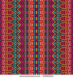 Colorful tribal pattern.