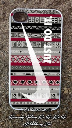 Nike aztec red black  iPhone 4/4s/5/5c/5s Case  by LOMBACUAPRES, $14.50