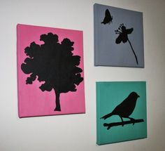DIY silhouette canvas painting - my special project!