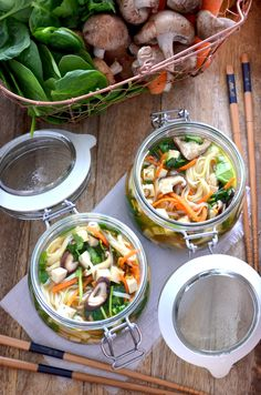 A recipe for Instant Noodle Soup Pots. Take the dry ingredients with you, e.g…