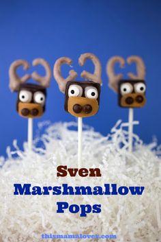 Disney's Frozen Sven Marshmallow Pops Recipe on Yummly. @yummly #recipe