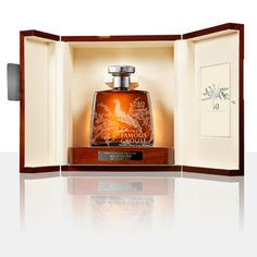 The-Famous-Grouse-40-Year Old Blended Malt Whisky. Just 276 decanters have been made.  The decanter is completed with a Scottish silver stopper. This is an intensely fruity, fragrant and slightly spicy whisky. The finish is very smooth and sweetly complex. Very expensive Scotch Whisky.