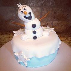 Olaf from Disney's Frozen cake