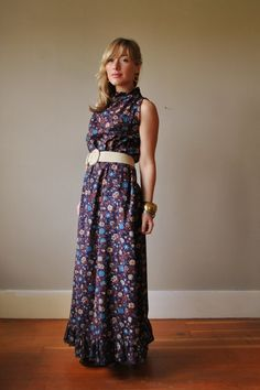 70s Floral Country Dress