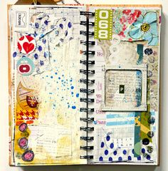 2011 art journal page by mumkaa http://www.flickr.com/photos/mumkaa_/sets/72157625661134965